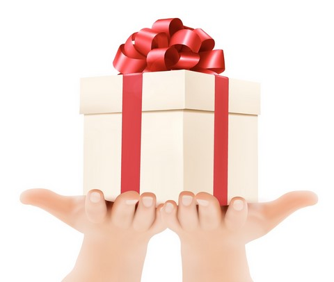 www.canstockphoto.com Picture of hands holding a wrapped gift, to promote our new patient referral coupon